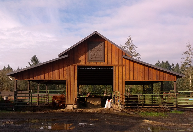 Greg Stallings Construction Eugene OR Pole Barn Horse Stable And Storage Facility